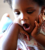 黑人女孩 免版税库存照片