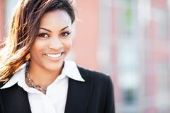 黑人女实业家 免版税库存图片