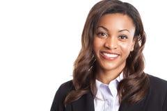 黑人女实业家 免版税库存照片