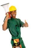 黑人建筑工人 图库摄影