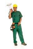 黑人建筑工人 库存图片