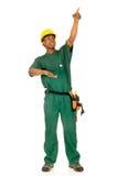 黑人建筑工人 库存照片
