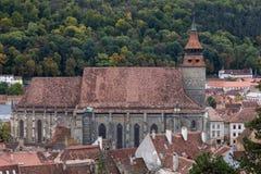 黑人教会在Brasov罗马尼亚 图库摄影
