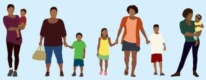 黑人母亲 免版税库存照片