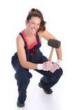 黑人短槌橡胶妇女 免版税库存图片