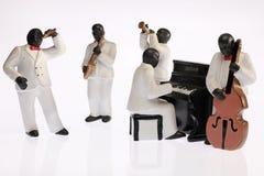 黑人组爵士乐音乐家 免版税库存照片