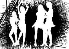 黑人舞女 免版税图库摄影