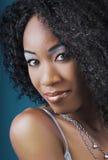 黑人迷人的妇女 免版税库存照片