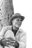 黑人年长人 免版税图库摄影