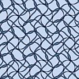 黑传染媒介无缝的波浪线样式 库存图片