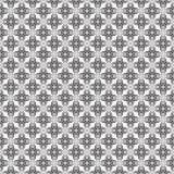 黑几何无缝的样式在白色背景中 向量例证