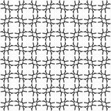 黑几何无缝的样式在白色背景中 免版税库存图片