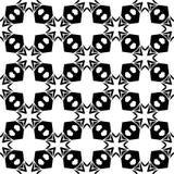 黑几何无缝的样式在白色背景中 免版税图库摄影