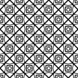 黑几何无缝的样式在白色背景中 图库摄影