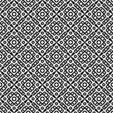 黑几何无缝的样式在白色背景中 免版税库存照片