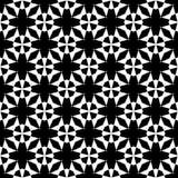 黑几何无缝的样式在白色背景中 库存图片
