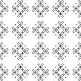黑几何无缝的样式在白色背景中 库存照片