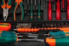 黑匣子工具箱工具 图库摄影