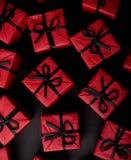 黑匣子礼品红色 库存图片
