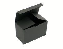 黑匣子空的开放纸张 免版税图库摄影