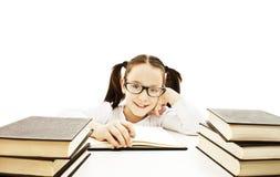 黑名册女孩玻璃佩带的一点 免版税库存照片
