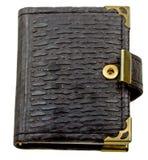 黑名册褐色查出的通知单白色 免版税库存图片