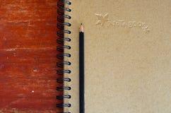 黑名册附注铅笔 库存照片