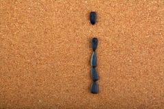 黑向日葵种子字母表木背景 图库摄影