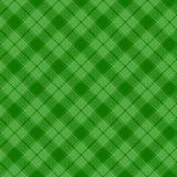 黑和绿色格子呢传统织品无缝的样式,传染媒介 皇族释放例证