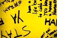 黑和黄色概念 免版税库存照片