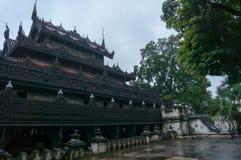 黑城堡Shwenandaw Kyaung寺庙 库存图片