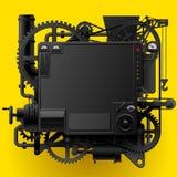 黑复杂意想不到的机器 向量例证