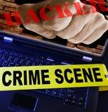 黑客个人计算机 免版税图库摄影
