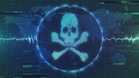 黑客攻击-干涉和malware网络警告-脏和被变形的图象 库存图片