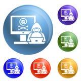 黑客活动象集合传染媒介 向量例证