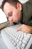 黑客疲倦 免版税库存图片