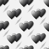 黑容量心脏的无缝的传染媒介样式在3d作用的设计的 皇族释放例证