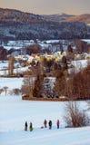 黑尔斯布鲁克在冬天-德国 库存图片