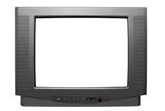 黑屏电视白色 免版税库存照片