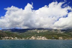 黑山的手段海岸 免版税库存照片