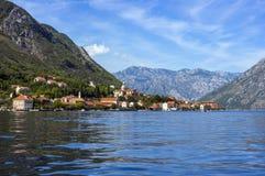 黑山的沿海美好的风景  免版税库存图片
