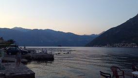 黑山的美丽的海边 库存图片
