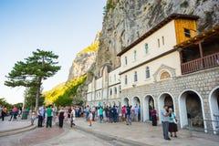 黑山 山的修道院Ostrog 免版税库存照片