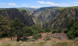 黑峡谷景色 库存图片