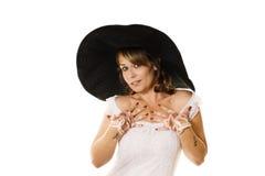 黑帽会议大妇女 库存图片