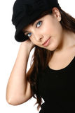 黑帽会议妇女 库存图片