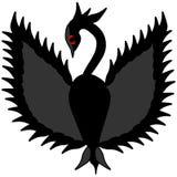 黑幻想天鹅原始的商标 向量例证