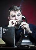 黑手党成员黑色列表 免版税图库摄影