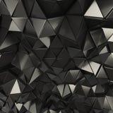 黑抽象三角背景 库存例证
