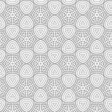 黑抽象凹道花几何六角网格图形背景传染媒介例证 库存图片